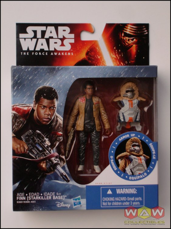 "Star Wars The Force Awakens 3.75/"" Figure Snow Mission Armor Finn Starkiller Base"