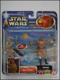 Mace Windu + Blast Apart Battle Droid - DELUXE